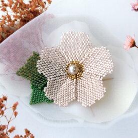 ビーズ アクセサリーキット フルールビジュ Cherry blossom(さくら) キット ビーズキット アクセサリー ブローチ TOHO アイコビーズ ビーズステッチ