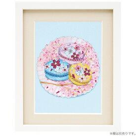 ビーズ キット ビーズデコール パート17 桜のマカロン BHD-108  ビーズキット 簡単 初心者 季節物 イベント スイーツ 絵 MIYUKI ミユキ 