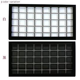 アクリル蓋紙箱ケース+ルースケースセット30×30mm用40個(白)(黒) ルースケースルースディスプレイ収納アクリル蓋アクリル紙製白黒30×30mm用