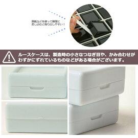 アクリル蓋紙箱ケース+ルースケースセット40×40mm用24個(白)(黒) ルースケースルースディスプレイ収納蓋アクリル紙製白黒40×40mm用