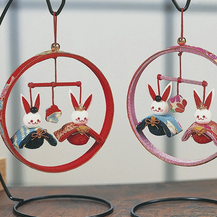 クラフト 和調手芸 下げもの・つるし飾りキット ちりめん細工 桜びな | 吊るし飾り つるし飾り 飾り キット 手芸 手芸用品 手作り 手作りキット 手芸キット 和雑貨 インテリア ハンドメイド