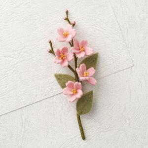 ピエニシエニ お花のコサージュ フェルトキット さくら POB-12 | フエルト キット フェルト アクセサリー サンフエルト フラワー ブローチ お花のブローチ