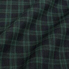 生地 綿布 ブラックウォッチ オックス 17-3 【メール便可】|1m単位の切売り|生地|布|コットン|綿|チェック|タータンチェック|緑|グリーン|バッグ|ポーチ| トーカイ
