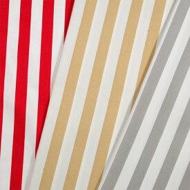 プディング ストライプ2 オックス(1m単位)|切売り 切り売り 生地 布 布地 プディング 赤 ベージュ グレー 灰色 入園 入学 女の子 男の子 シンプル カラーオックス