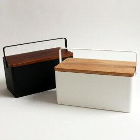 裁縫箱タワー 全2色 ホワイト ブラック l 裁縫箱 おしゃれ ソーイングボックス タワー 木製 収納雑貨 雑貨 リビング 収納