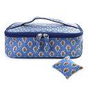 ソレイアード ソーイングポーチ デ・シャン ブルー SLSP-18B|裁縫道具 裁縫バッグのみ 裁縫バッグ 単品 裁縫 バッグ 鞄 ソーイングバッグ ソーイング バッグ ソーイングバッグのみ 北欧柄