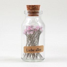リーベアレス 待ち針 ビン入り50本|Liebe alles ソーイング 裁縫 道具 ツール 日本製 国産 針 待ち針 まちばり 瓶入り レトロ