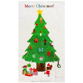 くまのがっこう クリスマスパネルインクジェット オックス 58cm カットクロス 生地 布 布地 くまのがっこう 絵本 クリスマスタペストリー クリスマスツリータペストリー トーカイ クリスマスツリー 壁に飾れる タペストリー