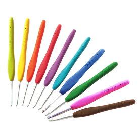 クロバー かぎ針アミュレ 単品 2/0号・3/0号・4/0号・5/0号・6/0号・7/0号・7.5/0号・8/0号・9/0号・10/0号|手芸 ハンドメイド かぎ針 編み針