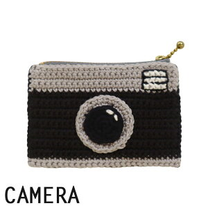 レトロポ−チキット カメラ|あみもの ニット 手編み かぎ針編み DMC HAPPYCOTTON
