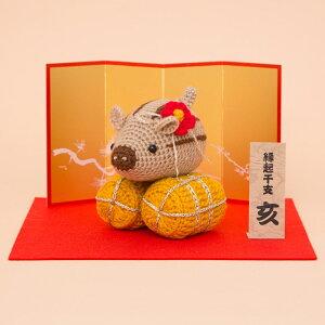 \夏SALE/ハマナカ あみぐるみキット ウリ俵 H301-526 | 編みぐるみ 編み物 縁起物 お飾り 材料キット|