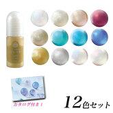UVレジン用着色剤宝石の雫パールタイプ12色セット|レジ用着色剤宝石の雫パールパジコセット