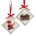 刺繍 刺しゅうキット オリムパス CHRISTMAS STITCH ラメ糸輝くクリスマスステッチ オーナメント サンタ&ソリ【メール…