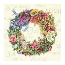 クロスステッチ 刺繍キット Dimensions The Gold Collection ディメンジョン Wreath of All Seasons フラワーリース