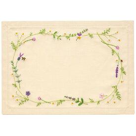 刺繍 刺しゅうキット オリムパス 青木和子 my sweet garden ハーブ ティーマット 【メール便可】 花刺繍 ししゅう キット