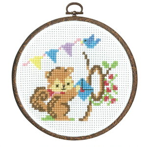 刺繍 キット オリムパス 森のかわいいなかまたち リスからの招待状 【メール便可】