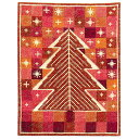 刺繍 輸入キット Haandarbejdets Fremme(フレメ) 星空のクリスマスツリー(赤) 【メール便可】