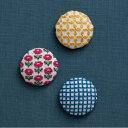 刺繍 キット COSMO(ルシアン) 地刺しキット 3つの包みボタン ガーデン 【メール便可】