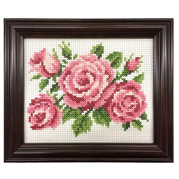 刺繍 キット COSMO(ルシアン) 四季折々の花だより 4月 バラ 【メール便可】