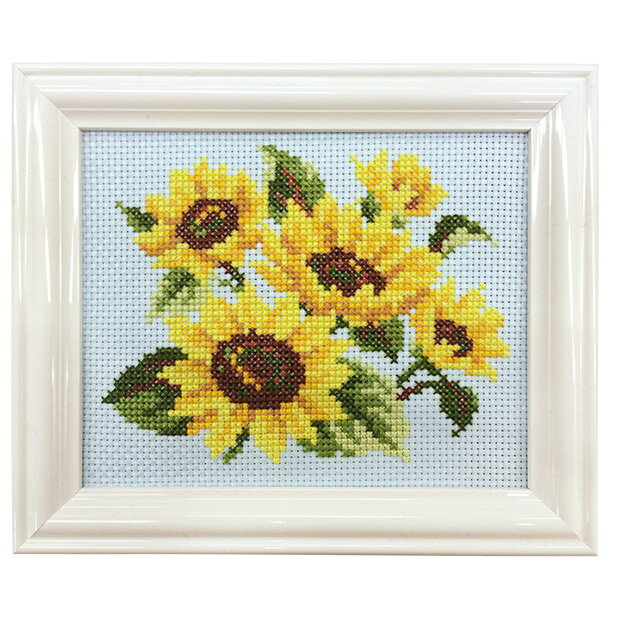 刺繍 キット COSMO(ルシアン) 四季折々の花だより 8月 ひまわり 【メール便可】