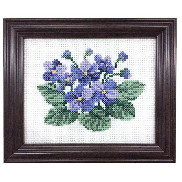 刺繍 キット COSMO(ルシアン) 四季折々の花だより 11月 セントポーリア 【メール便可】