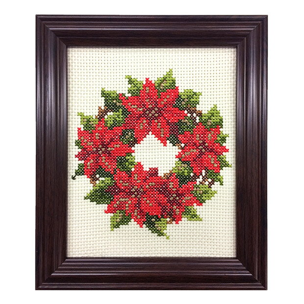 刺繍 キット COSMO(ルシアン) 四季折々の花だより 12月 ポインセチア 【メール便可】