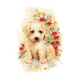 刺繍 Oben My puppy (私の子犬) ゴールデンレトリバー 輸入キット