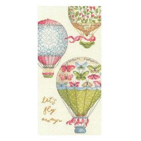 刺繍 Dimensions Let's Fly Away (気球 飛ぼう) 刺しゅうキット クロスステッチ 花気球