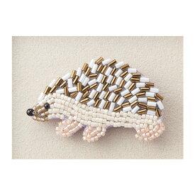 トーホー ビーズ刺繍で作る ブローチキット ハリネズミ 動物と植物のモチーフ帖 YMK-3
