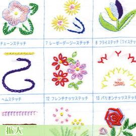 刺繍刺しゅうキットオリムパスフランス刺しゅう基本ステッチキット基本縫5型