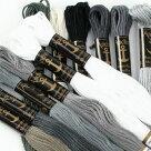 刺繍刺しゅう糸Anchor25番グレー系【メール便可】アンカー|糸|刺繍糸