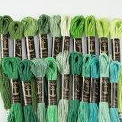 刺繍刺しゅう糸Anchor25番グリーン・ベージュ系1【メール便可】アンカー|糸|刺繍糸