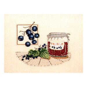 刺繍 クロスステッチキット O.O.E. 99501 Blueberry jam ブルーベリージャム