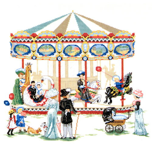 刺繍 刺しゅう 輸入キット O.O.E. merry-go-round刺繍