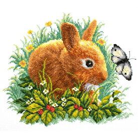 刺繍 刺しゅう輸入キット RTO Rabbit and butterfly
