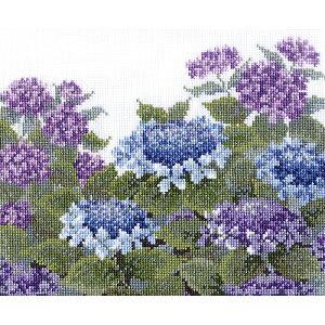 オリムパス 刺繍キット オノエ・メグミ 愛すべき花たち紫陽花 7451 |ししゅう キット オノエメグミ クロスステッチキット おしゃれ
