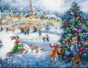 刺繍 Dimensions Winter Celebration 【送料無料】風景|クリスマス|雪|クリスマスツリー|子供|刺しゅうキット|ディメンジョン|刺繍...