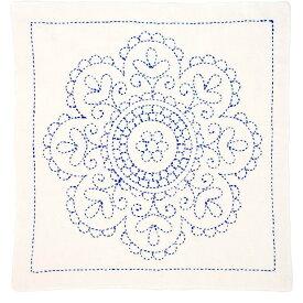 刺繍 キット チューリップ 刺し子 花ふきん SASHIKO WORLD Hungary 円形のバラ 【メール便可】