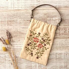 刺繍 COSMO ボタニカル刺しゅう No.92904 ローズのばねぐちポーチ フランス刺繍 刺しゅう ハンドメイド キット
