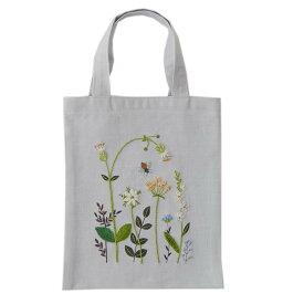 刺繍 コスモ70周年 ステッチを楽しむミニトートセット 青木和子  93001 刺繍セット 布バッグ サブバッグ