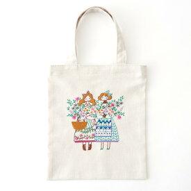 刺繍 コスモ70周年 ステッチを楽しむミニトートセット 石井寛子|93004 刺繍セット 布バッグ サブバッグ