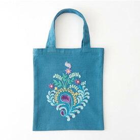 刺繍 コスモ70周年 ステッチを楽しむミニトートセット 大塚あや子 93005 刺繍セット 布バッグ サブバッグ