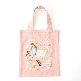 刺繍 コスモ70周年 ステッチを楽しむミニトートセット 神尾茉利 93006 刺繍セット 布バッグ サブバッグ