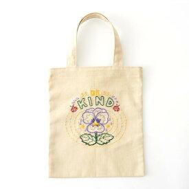 刺繍 コスモ70周年 ステッチを楽しむミニトートセット クラークソン瑠璃 93007 刺繍セット 布バッグ サブバッグ