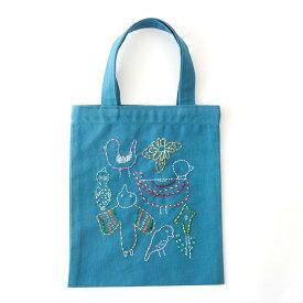 刺繍 コスモ70周年 ステッチを楽しむミニトートセット 刺繍Cafe わたなべいくこ 93011 刺繍セット 布バッグ サブバッグ