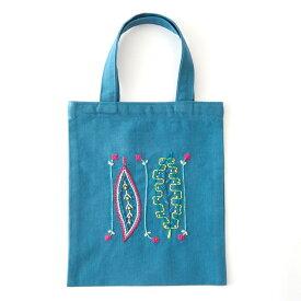 刺繍 コスモ70周年 ステッチを楽しむミニトートセット 戸塚刺しゅう 93012 刺繍セット 布バッグ サブバッグ