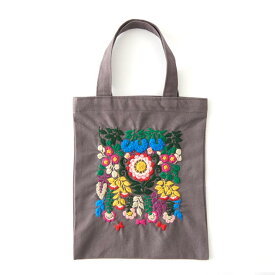 刺繍 コスモ70周年 ステッチを楽しむミニトートセット yanase rei|93018 刺繍セット 布バッグ サブバッグ