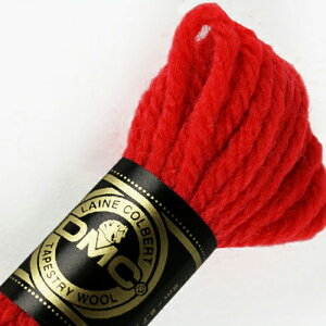 刺しゅう糸 DMC 4番 レッド・ピンク系 タペストリーウール 7666 【メール便可】|ししゅう糸 刺繍糸 ディー・エム・シー DMCの糸 ウール糸 タペストリー糸 ニードルポイント