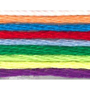 刺繍 刺しゅう糸 オリムパス 25番8色カラフル(学習用) 8802 【メール便可】