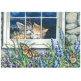 刺繍 輸入キット Dimensions ゴールドコレクションPetites Feline Love 【メール便可】